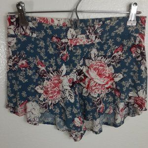 Free People Floral Boho Shorts size XS